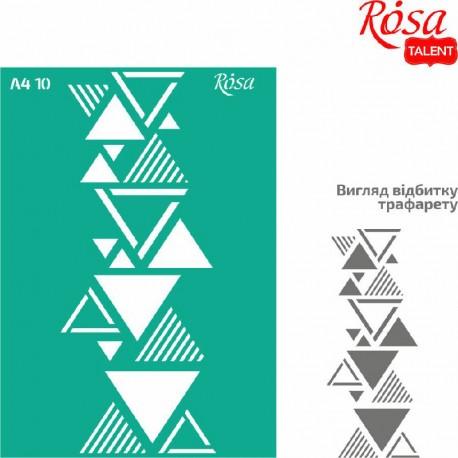 Samolepilna šablona A4 N10, Trikotniki