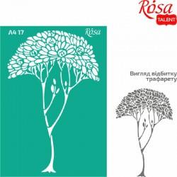 Samolepilna šablona A4 N17, Drevo 2