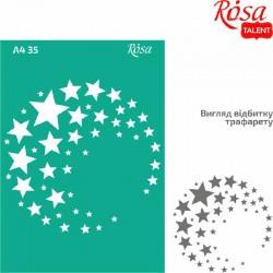 Samolepilna šablona A4 N35, Zvezde