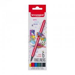Bruynzeel Fineliner Basic set 6