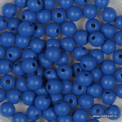Lesene perle 4mm,Sv. modre, 165 kosov