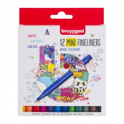 Bruynzeel Fineliner Mini Basic-Osnovni set 12