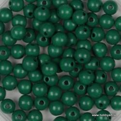 Lesene perle 4mm, Tem. zelene, 165 kosov