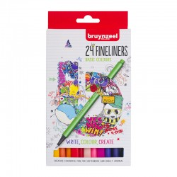 Bruynzeel Fineliner set 24