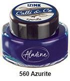 Izink kaligrafski tuš 15ml, Azurite