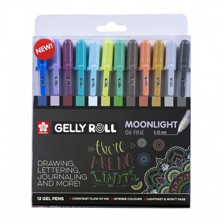 Gel roll Moonlight set 12