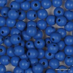 Lesene perle 6mm,Sv. modre, 125 kosov