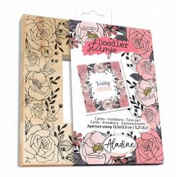 Aladine Doodler-okvir štampiljka 13,5 x 13,5cm, Rože