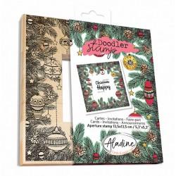 Aladine Doodler-okvir štampiljka 13,5 x 13,5cm, Božična