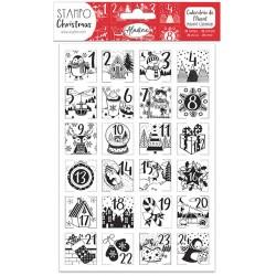 Aladine Štampiljke iz gume Adventne 24 motivov