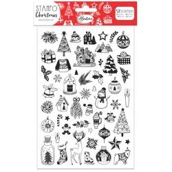 Aladine Štampiljke iz gume Božične 24 motivov
