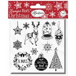 Aladine Štampiljke iz gume Božične 12 motivov
