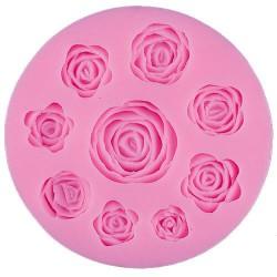 Silikonski kalup Vrtnice 9kos, 9,5x1,3cm