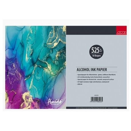 Papir za alkoholne inke - tuše 525g. A4, 10 listov