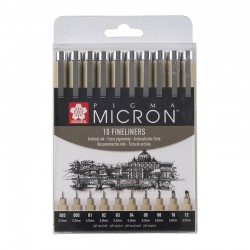 Pigma Micron Črna set 10