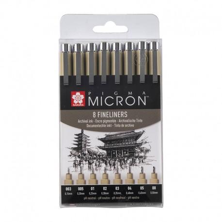 Pigma Micron Črna set 8