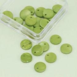Biserna matica krog 10mm, jabolčno zelena 40kos