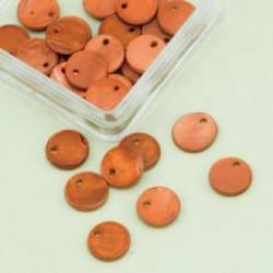Biserna matica krog 10mm, zlato rjava 40kos