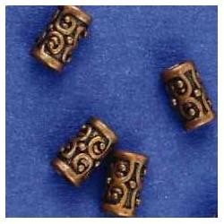 kovinske perle,10 x 6mm, antično bakrene b. 5 kos
