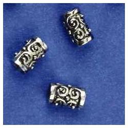 kovinske perle,10 x 6mm, antično srebrne b. 5 kos