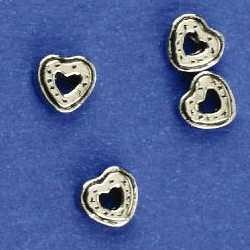 kovinske perle cca 9mm, srebrne b. 5 kos