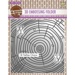 Nellies embossing mapa 3D 150x150mm, Deblo letnice
