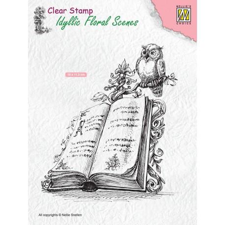 Nellies štampiljka Knjiga s Sovo 100 x 113cm