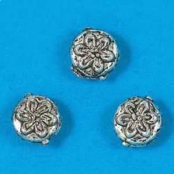 kovinske perle, 9mm, antično srebrne b. 12 kos