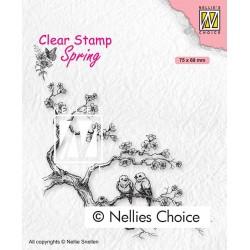 Nellies štampiljka Pomladna zaljubljenca