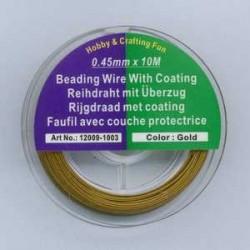 Najlonska žica 0,45mm x 10m, zlate b.