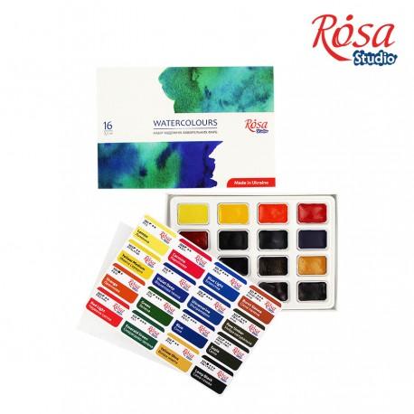 Rosa Studio akvarelne barve set 16