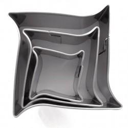 Kovinski modelčki Pravokotni valovi 2-4cm 3 kosi