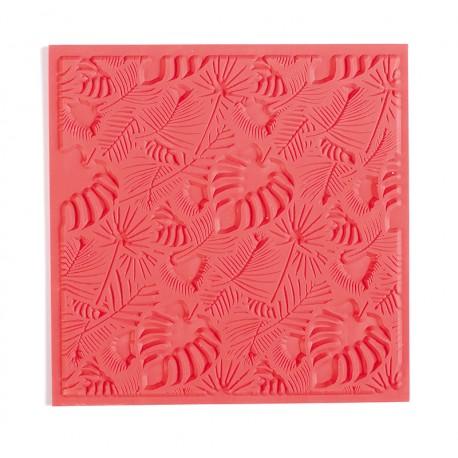 Teksturna plošča iz gume 9x9cm za Polymerni gline in Glino