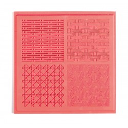 Teksturna plošča iz gume 9x9cm za Polymerni gline in Basketry