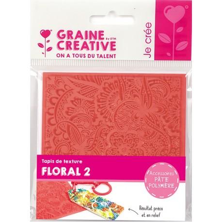 Teksturna plošča iz gume 9x9cm za Polymerni gline in Floral N2