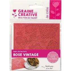 Teksturna plošča iz gume 9x9cm za Polymerni gline in Rose Vintage