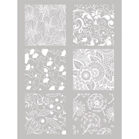 Šablona-sito za sitotisk Silkscreen 114x1153mm Rože