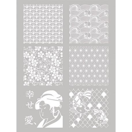 Šablona-sito za sitotisk Silkscreen 114x1153mm Špirale