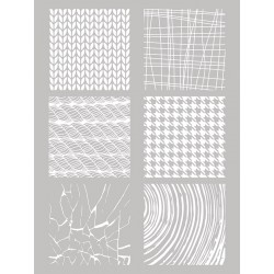 Šablona-sito za sitotisk Silkscreen 114x1153mm Vzorci