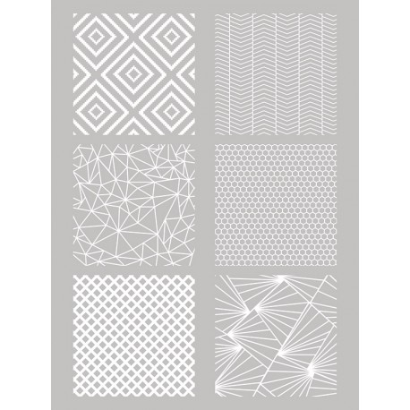 Šablona-sito za sitotisk Silkscreen 114x1153mm Geomitrijski vzorci