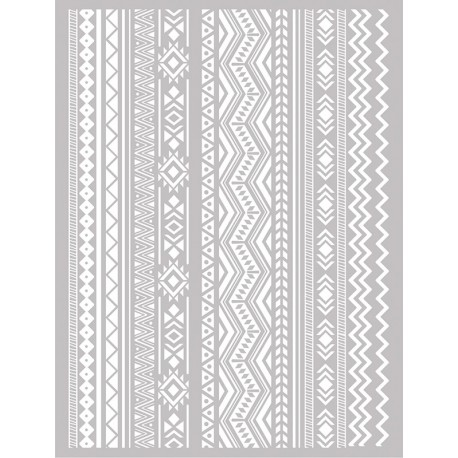 Šablona-sito za sitotisk Silkscreen 114x1153mm Azteške