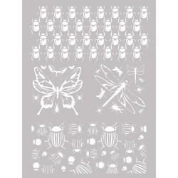 Šablona-sito za sitotisk Silkscreen 114x153mm Insekti