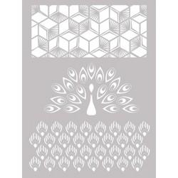 Šablona-sito za sitotisk Silkscreen 114x153mm Pavja peresa