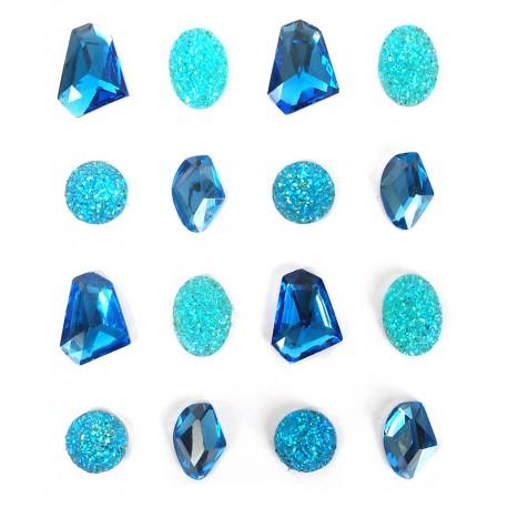 Samolepilni kamenčki Modri 20mm 16 kosov