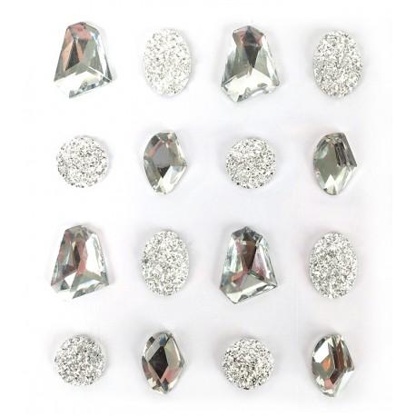 Samolepilni kamenčki Kristalni 20mm 16 kosov