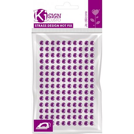 Hot Fix bleščice za vroče leplenje 3mm 140 kosov