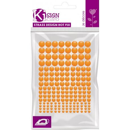 Kovinski krogci za likanje 3-4-5-6mm Flou Oranžna 176 kosov