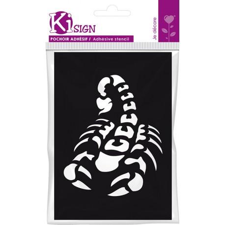 Samolepilna fleksebilna šablona 7 x 10cm Škorpijon