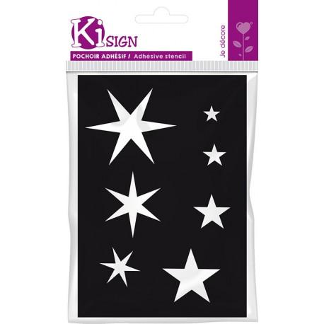 Samolepilna fleksebilna šablona 7 x 10cm Zvezde
