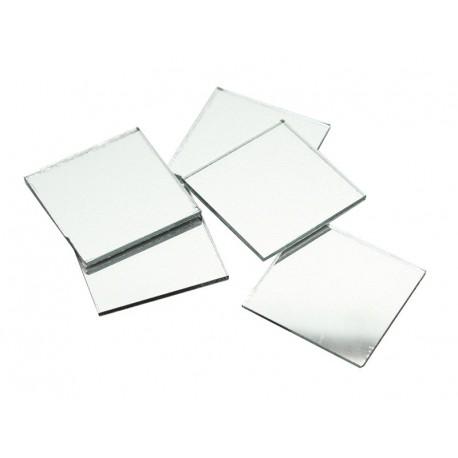 Samolepilna steklena ogledalca 30 x 30mm 5 kosov